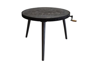 Round Multi Gear Metal Dining Table