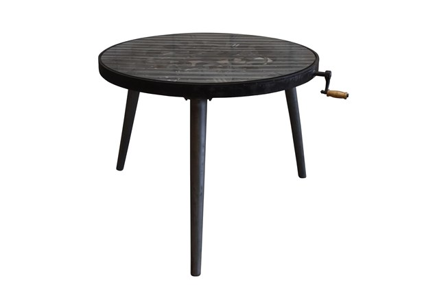 Round Multi Gear Metal Dining Table - 360