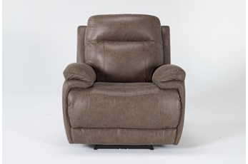 Wallace Light Brown Zero Gravity Power Recliner With Power Headrest