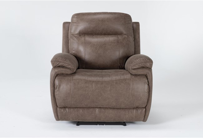 Wallace Light Brown Zero Gravity Power Recliner With Power Headrest - 360