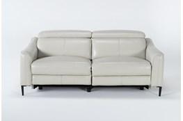 "Lorenzo Ivory 74"" Power Reclining Sofa"