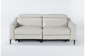 "Lorenzo Ivory 74"" Power Reclining Sofa"