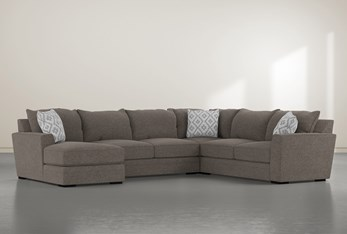 """Aidan IV 4 Piece 142"""" Sectional With Left Arm Facing Chaise"""