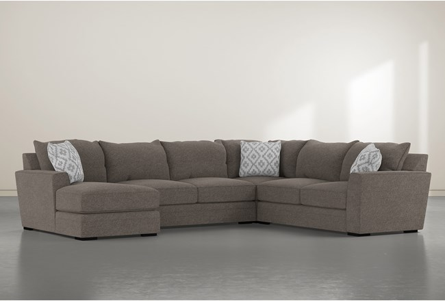 """Aidan IV 4 Piece 142"""" Sectional With Left Arm Facing Chaise - 360"""