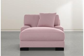 Aidan IV Pink Velvet Chaise