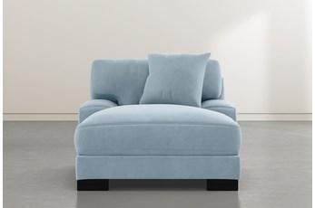 Aidan IV Blue Velvet Chaise