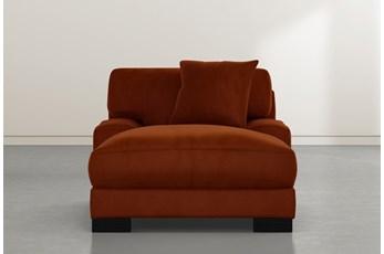 Aidan IV Orange Velvet Chaise