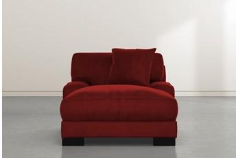 Aidan IV Red Velvet Chaise