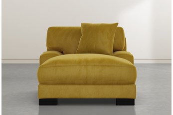Aidan IV Yellow Velvet Chaise