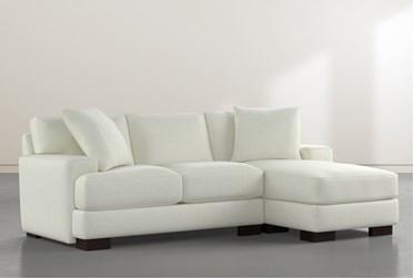 "Aidan IV Green Reversible 95"" Sofa/Chaise"