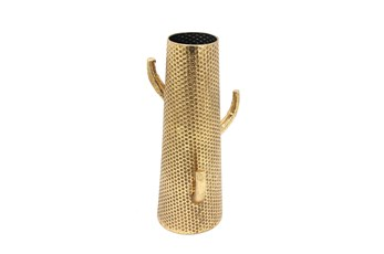 Ml 19 Inch Gold Metal Cactus Vase