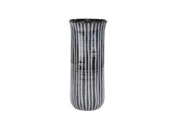 Ml 14 Inch Blue Striped Vase