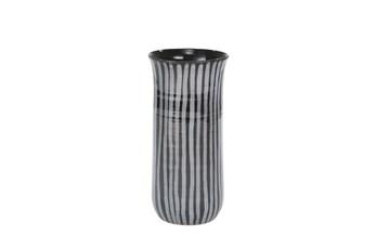 Ml 11 Inch Blue Striped Vase