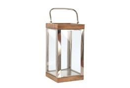 Outdoor 14 Inch Metal Wood Lantern