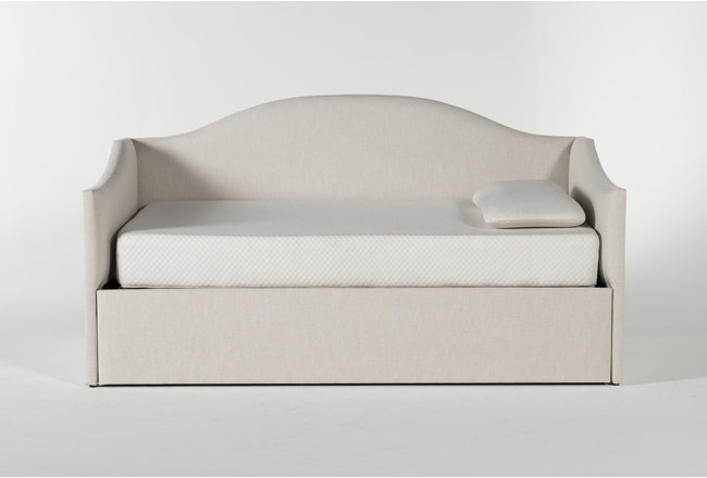 Judith Upholstered Twin Daybed With Trundle - 360