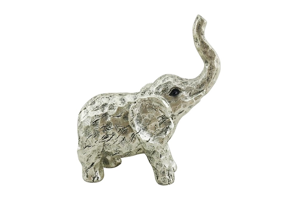 8 Inch Gold Elephant Figurine