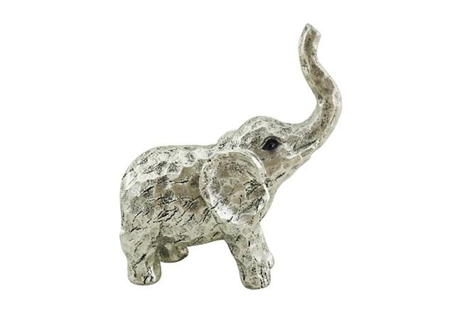 8 Inch Gold Elephant Figurine - 360