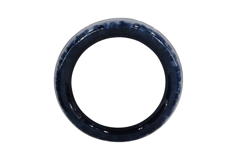 Blue 36 Inch Round Mirror