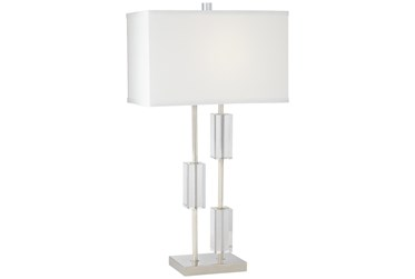 Table Lamp-Three Crystal Rectangles