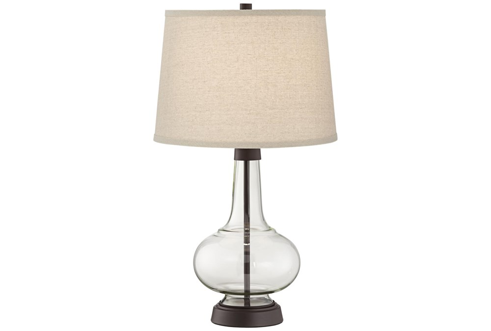 Table Lamp-Clear Glass Lamp