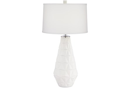Table Lamp-White Triangle Cut Out - Main