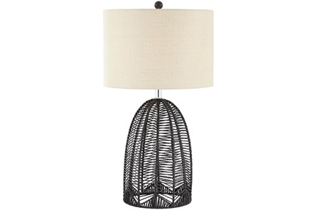 Table Lamp-Black Rope Cage - Main