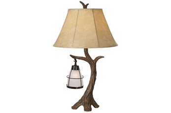 Table Lamp-Poly Tree Branch