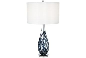 Table Lamp-Indigo Swirl