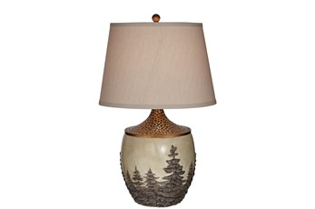 Table Lamp-Landscape Forest
