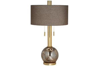 Table Lamp-Brushed Metal