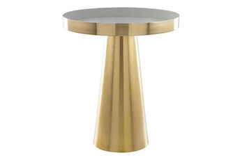 Round Cone Gold Accent Table