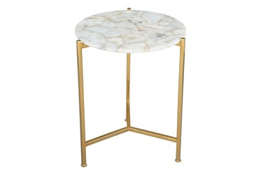 Gold + White Accent Table
