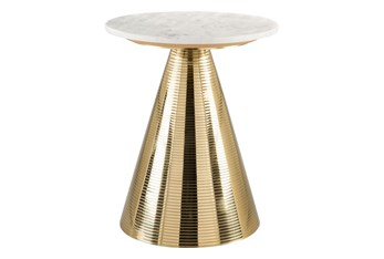 White + Gold Accent Table