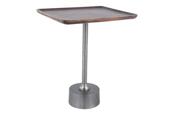 Metal + Wood Accent Table