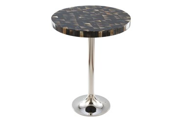 Black Geo Pattern Accent Table
