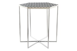 Black + White Pattern Accent Table