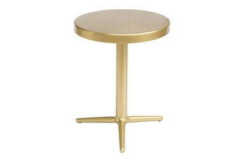 Gold Round Accent Table