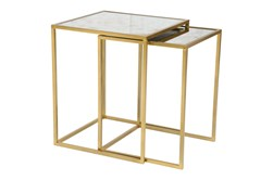 Set Of 2 Gold Nesting Tables