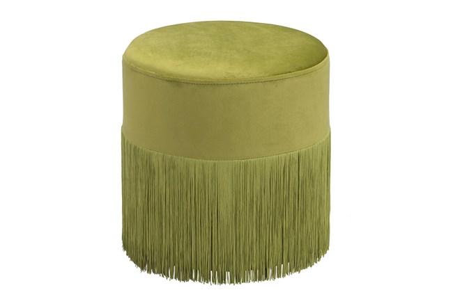 Green Fringe Small Ottoman - 360