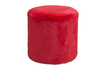 Red Round Small Ottoman