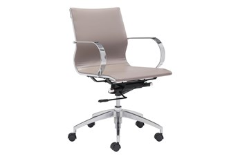 Low Back Taupe Office Chair