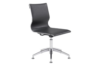 Armless Black Office Chair