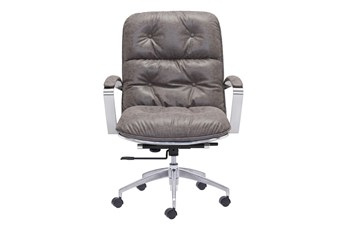 Channe Back Grey Office Chair