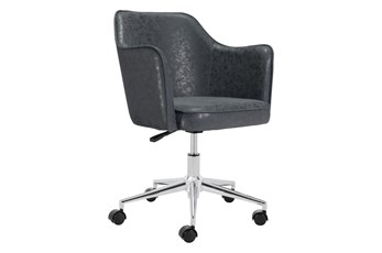 Black Wing Tip Office Chair