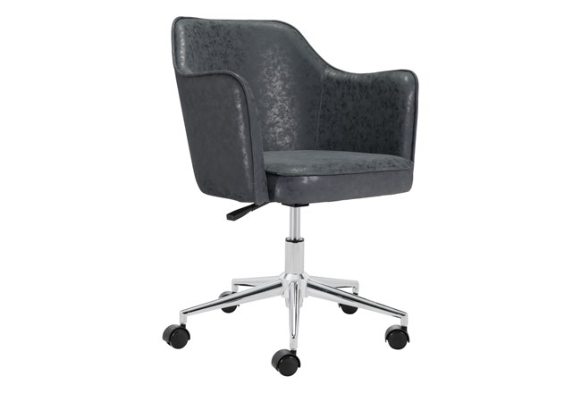 Black Wing Tip Office Chair - 360