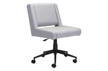 Light Grey Mid Century Office Chair