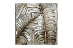 Cl 39 Inch Square Silver And Bronze Metallic Wall Art