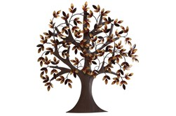 32 Inch Brown Metal Wall Decor Metal Tree