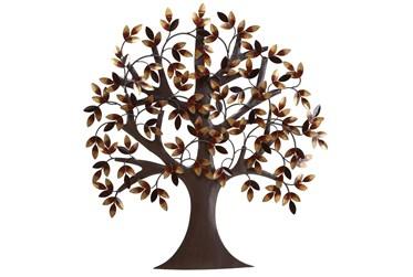 32 Inch Brown Metal Wall Decor Metal Tree