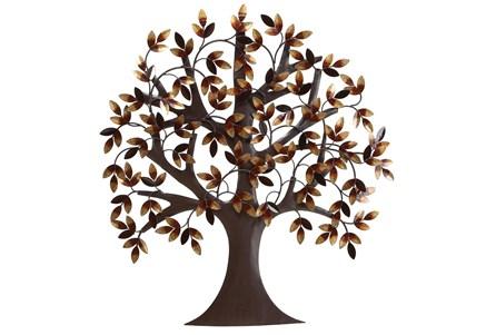 32 Inch Brown Metal Wall Decor Metal Tree - Main